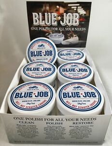 12 Pack blue job Chrome Polish perfect For Your Motorcycle