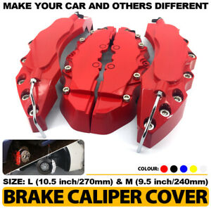 4 Pcs Red Brake Caliper Covers Style Disc Universal Car Front Rear L m Cy02