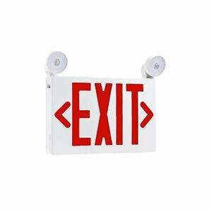 Emergency Exit Light Combo 3 5w ul 94v 0 Flame Rating indicator Light Ul Listed