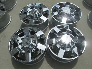 18 Gmc Chevy 2500 3500 Hd Oem Factory Wheels Rims Chrome Gmc Caps 2018 C