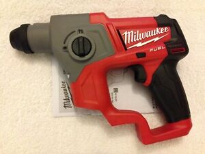 New Milwaukee Fuel 2416 20 M12 12v 12 Volt Cordless 5 8 Sds plus Rotary Hammer
