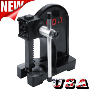 1 Ton Heavy Duty Arbor Press Cast Iron Frame Manual Forging Bearing Press Tool