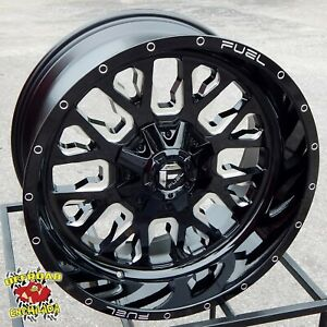 22x10 Black Fuel Stroke Wheels Rim Ford F 250 F 350 Super Duty Lariat Fx4 8x170