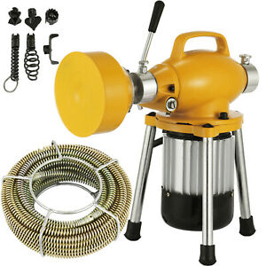 3 4 4 dia Sectional Drain Cleaner 400w Pipe Sewer Cleaning Machine W Cutters