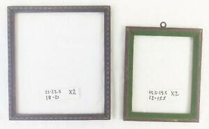 Two Wooden Frame Vintage For Check Painted Dressing Table Classic Frame X2