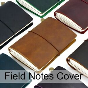 Field Note Journal Cover Genuine Leather Notebook Planner Handmade Agenda Pocket