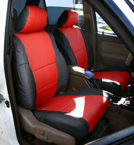 Toyota 4runner 1996 2002 Iggee S Leather Custom Made Fit 2 Front Seat Covers