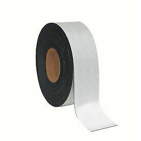 Mastervision Magnetic Tape Roll 2 X 50 Ft White 1 Each