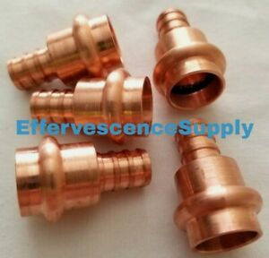 Lot Of 5 1 2 Propress X Pex Adapter Coupling Press Brass Or Copper X Clamp Pex