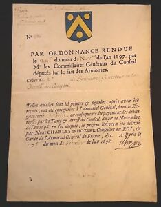 Proof Of Nobility Parchment 1698