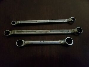 Snap On Offset Wrench Box End Wrenchs Lot Of 3