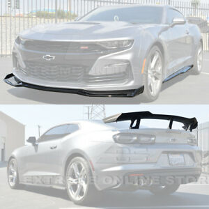 Zl1 1le Style Front Splitter Side Skirts Rear Spoiler For 19 Up Camaro Ss Rs