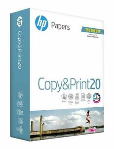 Hp Printer Paper Copy And Print20 8 5 X 11 Paper Letter Size 750 Sheets
