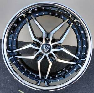 20x9 Marquee M 5331 5x115 Machine Black With Chrome Lip Fits Chrysler 300c