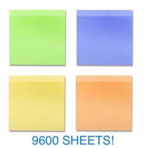 Sticky Notes Pop Up Memo Reminder Neon Colors 9600 96 Pads 100 Sheets Free Ship