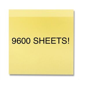 Sticky Notes Pop Up Memo Reminder Yellow 9600 96 Pads 100 Sheets Free Shipping