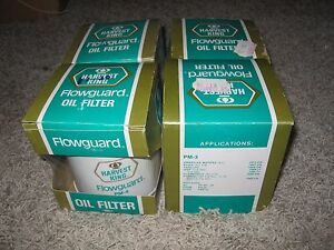 4 Flowguard Oil Filters Vintage But New Pm 3 Pf 24 Pf 30 Ph 25 Per 33