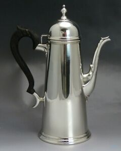 Tuttle Sterling Silver George I Period Reproduction Coffee Or Tea Pot