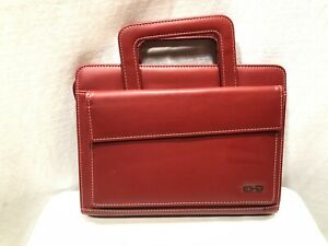 Day One Franklin Covey Red Planner Zippered Pullout Handle 10 5 X 8 Refillable