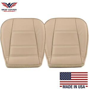1999 2004 Ford Mustang V6 Driver And Passenger Bottom Leather Seat Cover Tan