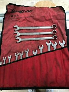 Snap on Tools 14 Piece Metric Combination Wrench 12 Point Set 9mm To 22mm