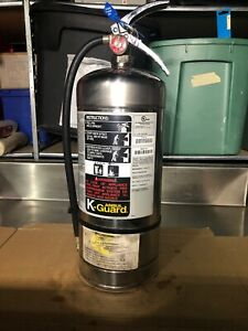 K ansul Guard Fire Extinguisher K01 2 Stainless Steel 6 Liter Wet Chemical