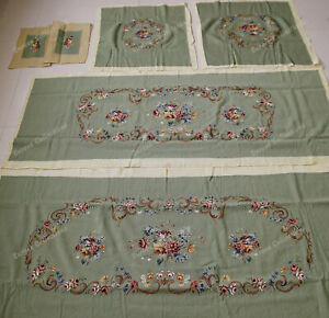 Light Green 17th Century Neo Classical Reproduction Floral Sofa Chair Cover Sets