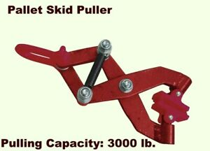 Pallet Skid Puller 1 1 2 Ton Scissor Crate Container Grabber Material Handling