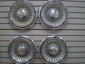 1964 Buick Electra Wheel Cover Hubcaps Oem Set 64
