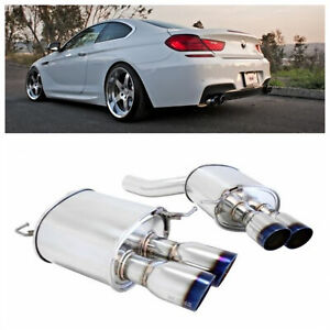 Megan Racing Supremo Axle Back Exhaust W Burnt Tips For 12 16 F12 F13 650i 2d