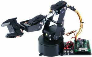Lynxmotion Al5a 4 Degrees Of Freedom Robotic Arm Combo Kit botboarduino