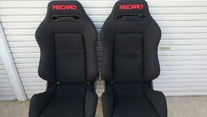 Seat Recaro Sr 3 Cloth Only Cover Black Red Embroidery New 2 Pc