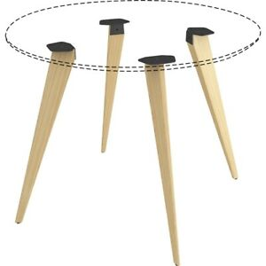Lorell Round Conference Table Wood Base Four Leg Base 4 Legs 28 50 Height