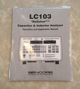 new In Plastic Sencore Lc103 Owners Manual Brand New Original Limited Qty