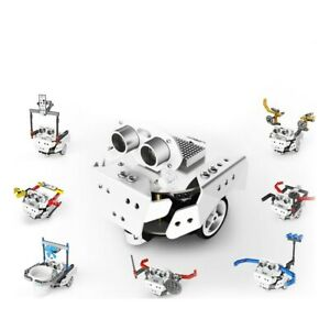 Programmable Smart Robot Kit Car Unfinished For Scratch Compatible With Arduino