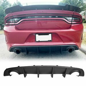 Fits 15 20 Dodge Charger Srt Oe Style Rear Lip Bumper Valance Diffuser Pp