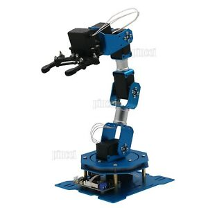 6dof Robot Arm 6 axis Aluminum Robotic Mechanical Arm With Servos For Diy