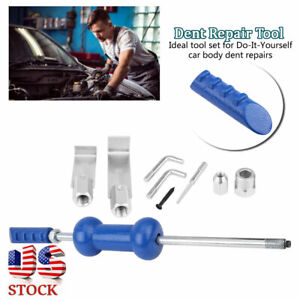 9pcs Car 5lb Body Dent Repair Tool Puller Slide Hammer Auto Body Repairs Usa