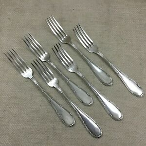 Antique Table Forks Cutlery Silver Plate Ribbon Bow Reed Ribbon And Reed Bow