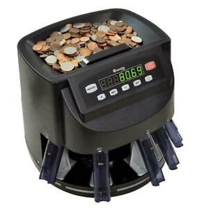Coin Sorter Money Counter Machine Change Count Sort Stack Wrapper Coins Business