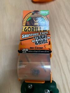 Gorilla Packaging Tape Tough Wide With Dispenser 2 83 X 35 Yd Clear 4 Pack