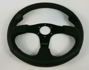 Momo Jet 350mm Tuning Racing Steering Wheel Black Leather Feee Shipping