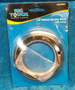 2 1 2 Round Chrome Bezel With Screws Rig Tough Truck Parts
