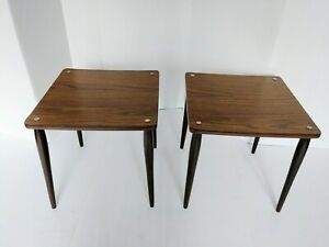 Pair Of 2 Mid Century Modern End Tables