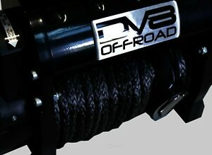 Dv8 Offroad 12000 Lb Winch W Synthetic Line Wireless Remote Black Dvewb12