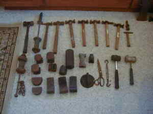 30 Vintage Auto Body Repair Tools Items Old Used Crusty Banged Up All Intact