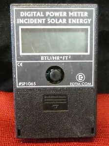 Edtm Digital Power Meter Incident Solar Energy sp1065 Btu hr ft2 works Great