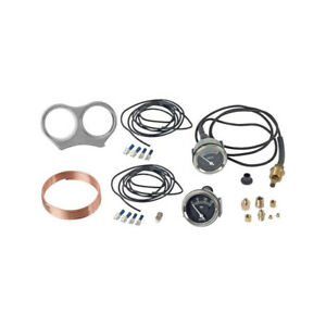 Model A Ford Oil Pressure Temperature Gauge Kit Fits Round Speedometer Mid