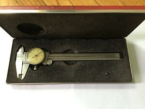 Starrett No 120 Dial Caliper 0 6 Range 001 Graduation With Original Case