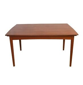 Mid Century Danish Modern Extendable Dining Table